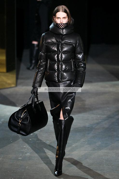 Caroline Brasch Nielsen walks down runway for F2012 Alexander Wang's collection in Mercedes Benz fashion week in New York on Feb 12, 2012 NYC