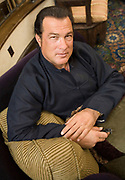 Movie action-hero and blues musician Steven Seagal at the Showboat Casino and the House of Blues in Atlantic City, NJ Friday June 23, 2006. (Photograph by Jim Graham)