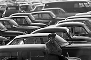 06/03/1964<br /> 06/03/1964<br /> 06 March 1964<br /> View of the car park at Leopardstown Racecourse.