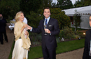 Princess Marie Chantal of Greece and Chris Thomsen. Cartier dinner after thecharity preview of the Chelsea Flower show. Chelsea Physic Garden. 23 May 2005. ONE TIME USE ONLY - DO NOT ARCHIVE  © Copyright Photograph by Dafydd Jones 66 Stockwell Park Rd. London SW9 0DA Tel 020 7733 0108 www.dafjones.com
