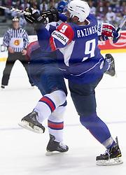 Tomaz Razingar of Slovenia during ice-hockey match between Slovakia and Slovenia of Group A of IIHF 2011 World Championship Slovakia, on April 29, 2011 in Orange Arena, Bratislava, Slovakia. Slovakia defeated Slovenia 3-1. (Photo By Vid Ponikvar / Sportida.com)