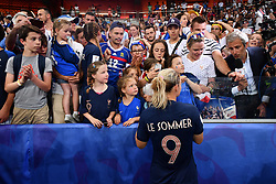 June 29, 2019 - Paris, ile de france, France - Eugenie Le Sommer (FRA) and french supporters after the quarter-final between FRANCE vs USA in the 2019 women's football World cup at Parc des Princes in Paris, on the 28 June 2019. (Credit Image: © Julien Mattia/NurPhoto via ZUMA Press)