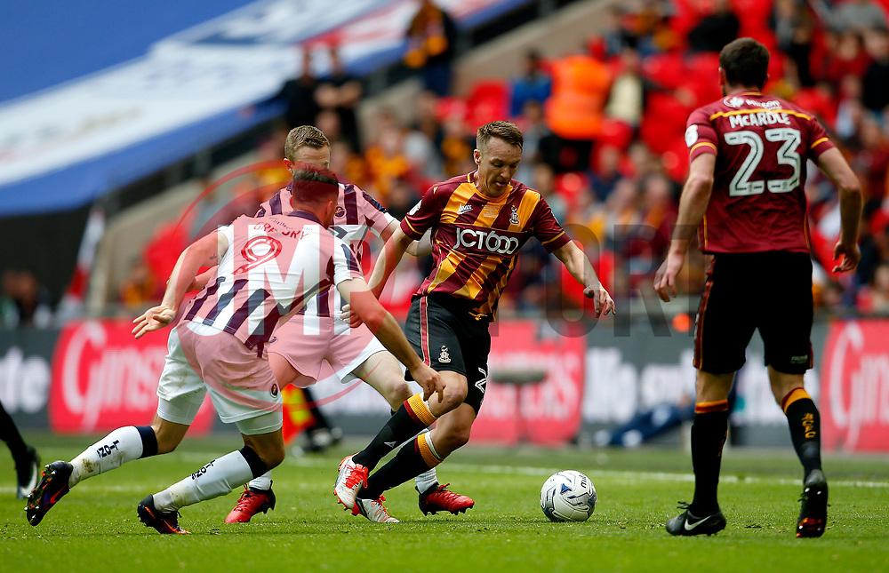 Anthony McMahon of Bradford City in action - Mandatory by-line: Matt McNulty/JMP - 20/05/2017 - FOOTBALL - Wembley Stadium - London, England - Bradford City v Millwall - Sky Bet League One Play-off Final