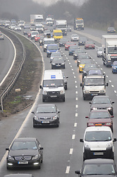 © Licensed to London News Pictures. 16/03/2015<br /> Motorists using the M25 are being warned by the Highways Agency of heavy traffic congestion on the M25 between Swanley and Orpington, clockwise this morning (16.03.2015)<br /> (Byline:Grant Falvey/LNP)