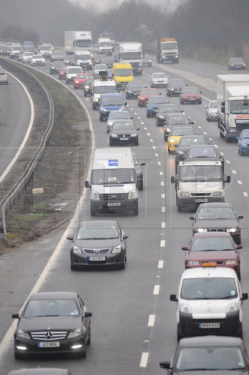 &copy; Licensed to London News Pictures. 16/03/2015<br /> Motorists using the M25 are being warned by the Highways Agency of heavy traffic congestion on the M25 between Swanley and Orpington, clockwise this morning (16.03.2015)<br /> (Byline:Grant Falvey/LNP)