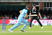 Jos Buttler of England gets a run to third man during the ICC Cricket World Cup 2019 Final match between New Zealand and England at Lord's Cricket Ground, St John's Wood, United Kingdom on 14 July 2019.