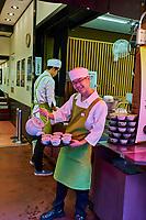 Japon, île de Honshu, région de Kansaï, Kyoto, vieux quartier de Sannenzaka, boutique de thé vert Matcha // Japan, Honshu island, Kansai region, Kyoto, old street of Sannenzaka, Matcha green tea