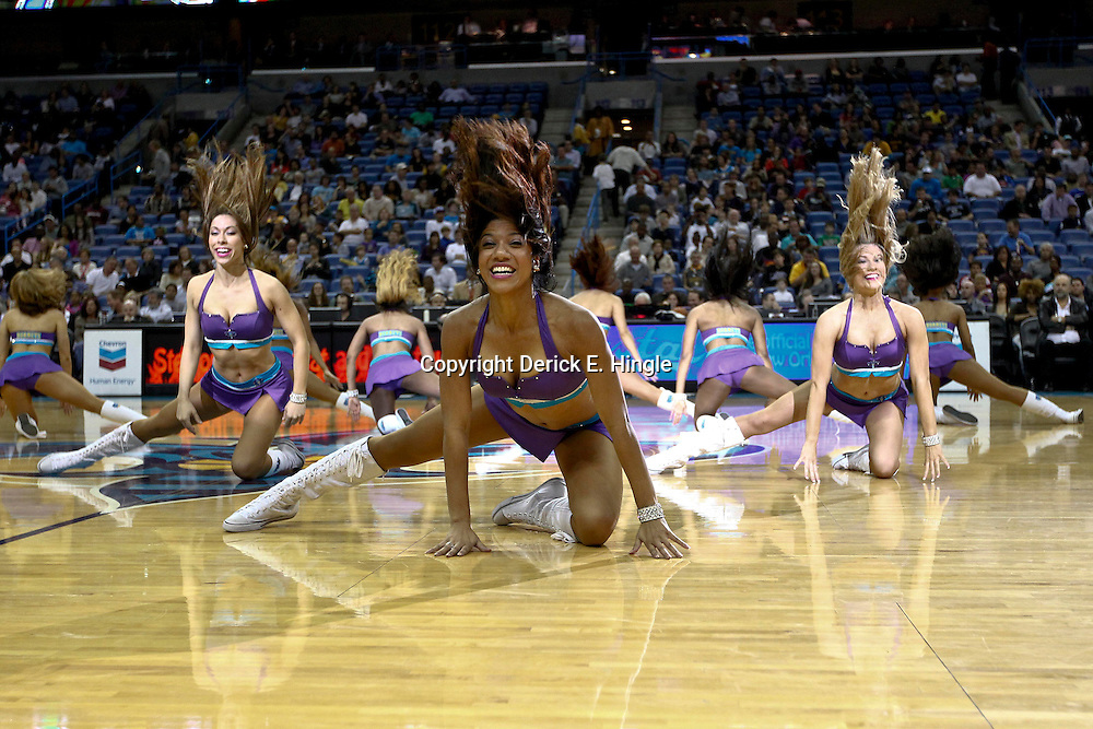 Dec 7, 2012; New Orleans, LA, USA; New Orleans Hornets Honeybees perform during the second quarter of a game against the Memphis Grizzlies at the New Orleans Arena.   The Grizzlies defeated the Hornets 96-89.Mandatory Credit: Derick E. Hingle-USA TODAY Sports
