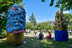 "© Licensed to London News Pictures. 05/07/2017. London, UK. ""Untitled"", 2016, by Takuro Kuwata.  The Frieze Sculpture festival opens to the public in Regent's Park.  Featuring outdoor works by leading artists from around the world the sculptures are on display from 5 July to 8 October 2017.  Photo credit : Stephen Chung/LNP"