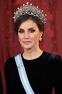 112818 Spanish royals attends a Gala Dinner with Chinese President and wife