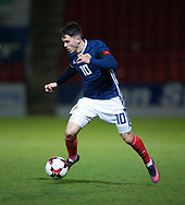 10th November 2017, McDiarmid Park, Perth, Scotland, UEFA Under-21 European Championships Qualifier, Scotland versus Latvia; Scotland's Lewis Morgan