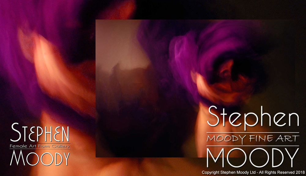 Purple Rose - Abstract Art of the Female Form created by artist Stephen Moody of Scottsdale, AZ.  Large wall art for businesses, hospitality industry, interior designers and individual collectors.