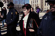 Patsy Thomasson, the former Director of White House Office of Administration, departs from the Federal Courthouse following testimony in front of the Starr Grand Jury investigating the Monica Lewinsky affair February 25, 1998 in Washington, DC.