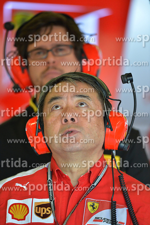 04.07.2014, Silverstone Circuit, Silverstone, ENG, FIA, Formel 1, Grand Prix von Grossbritannien, Training, im Bild Hirohide Hamashima (JPN) Ferrari Tyre Engineer // during the practice of British Formula One Grand Prix at the Silverstone Circuit in Silverstone, Great Britain on 2014/07/04. EXPA Pictures &copy; 2014, PhotoCredit: EXPA/ Sutton Images<br /> <br /> *****ATTENTION - for AUT, SLO, CRO, SRB, BIH, MAZ only*****