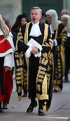 © Licensed to London News Pictures. 01/10/2015. London, UK. The Lord Chancellor and Secretary of State for Justice MICHAEL GOVE  takes part in the annual Judges Service at Westminster Abbey. The Service heralds the start of the legal year in the United Kingdom. Photo credit: Peter Macdiarmid/LNP