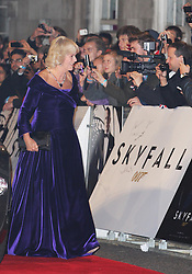Camilla, Duchess of Cornwall  arriving  at the world premiere of Skyfall  in London, Tuesday, 23rd October 2012.  Photo by: Stephen Lock / i-Images