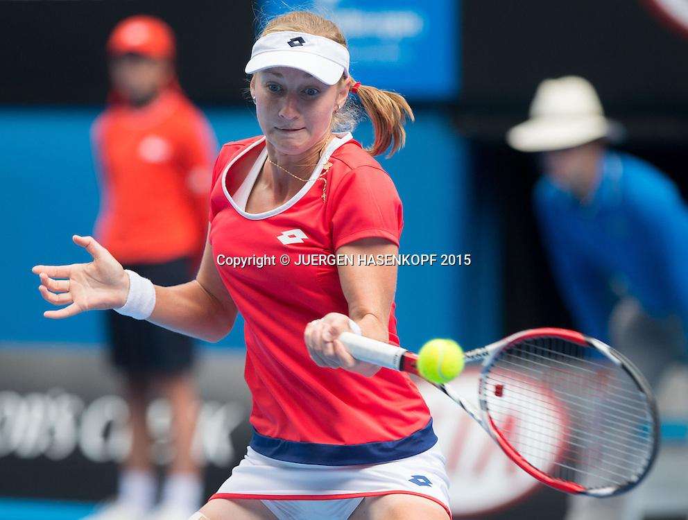 Ekaterina Makarova (RUS)<br /> <br /> Tennis - Australian Open 2015 - Grand Slam ATP / WTA -  Melbourne Olympic Park - Melbourne - Victoria - Australia  - 27 January 2015.