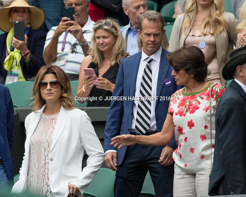 ROGER FEDERER TEAM,Ehefrau Mirka  Stefan Edberg, Mutter Lynette in der Spielerloge<br /> <br /> Tennis - Wimbledon 2016 - Grand Slam ITF / ATP / WTA -  AELTC - London -  - Great Britain  - 8 July 2016.