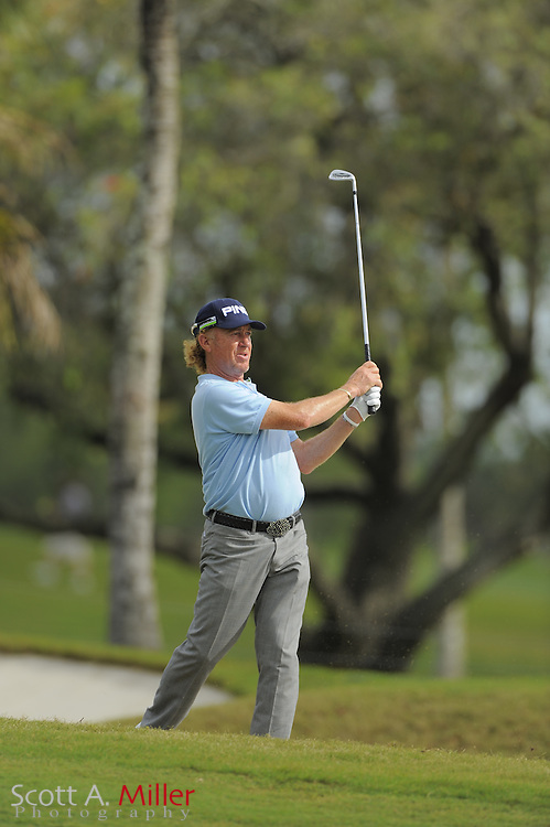 Miguel Angel Jimenez during the second round of the World Golf Championship Cadillac Championship on the TPC Blue Monster Course at Doral Golf Resort And Spa on March 9, 2012 in Doral, Fla. ..©2012 Scott A. Miller.