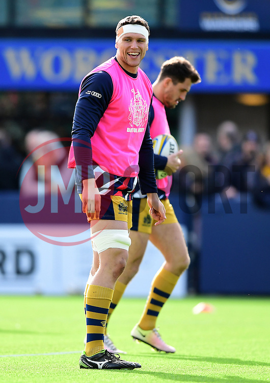 Sam Jeffries of Bristol Rugby  - Mandatory by-line: Joe Meredith/JMP - 05/03/2017 - RUGBY - Sixways Stadium - Worcester, England - Worcester Warriors v Bristol Rugby - Aviva Premiership
