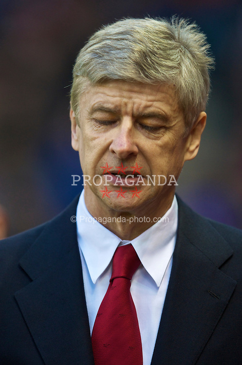 STOKE-ON-TRENT, ENGLAND - Saturday, February 27, 2010: Arsenal's manager Arsene Wenger before the FA Premier League match against Stoke City at the Britannia Stadium. (Photo by David Rawcliffe/Propaganda)