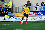 Oxford United Forward Jordan Bowery  during the The FA Cup Fourth Round match between Oxford United and Blackburn Rovers at the Kassam Stadium, Oxford, England on 30 January 2016. Photo by Dennis Goodwin.