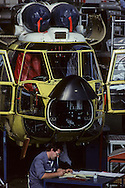 France. Marseille. Aerospatiale Factory Super Puma Helicopter  Marseille - France    / Aerospatiale Chaine De Construction Des Helicopteres Super Puma  Marseille - France