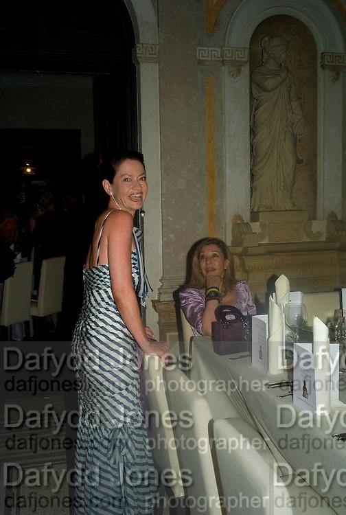 DR. CORINNE FLICK; SUSAN GUTFREUND, Christie's Gala. Casa Austria.  Amadeus Weekend. Salzburg. 22 August 2008.  *** Local Caption *** -DO NOT ARCHIVE-© Copyright Photograph by Dafydd Jones. 248 Clapham Rd. London SW9 0PZ. Tel 0207 820 0771. www.dafjones.com.