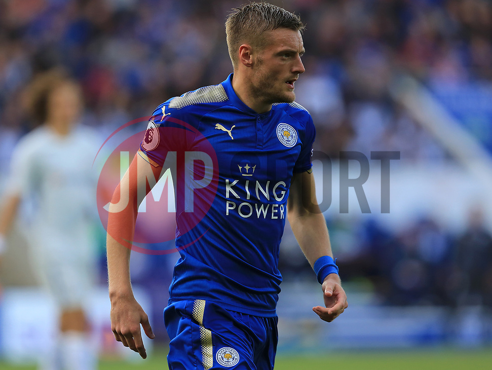 Jamie Vardy of Leicester City - Mandatory by-line: Paul Roberts/JMP - 09/09/2017 - FOOTBALL - King Power Stadium - Leicester, England - Leicester City v Chelsea - Premier League