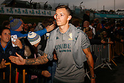 Leeds United defender Ben White (5), on loan from Brighton & Hove Albion, arrives during the EFL Sky Bet Championship match between Leeds United and West Bromwich Albion at Elland Road, Leeds, England on 1 October 2019.