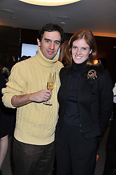 KAVEH & CORA SHEIBANI at a party to celebrate the publication of The Impossible Collection of Jewelry by Vivienne Becker hosted by Assouline and Bulgari at the Bulgari Hotel, 171 Knightsbridge, London on 17th January 2013.