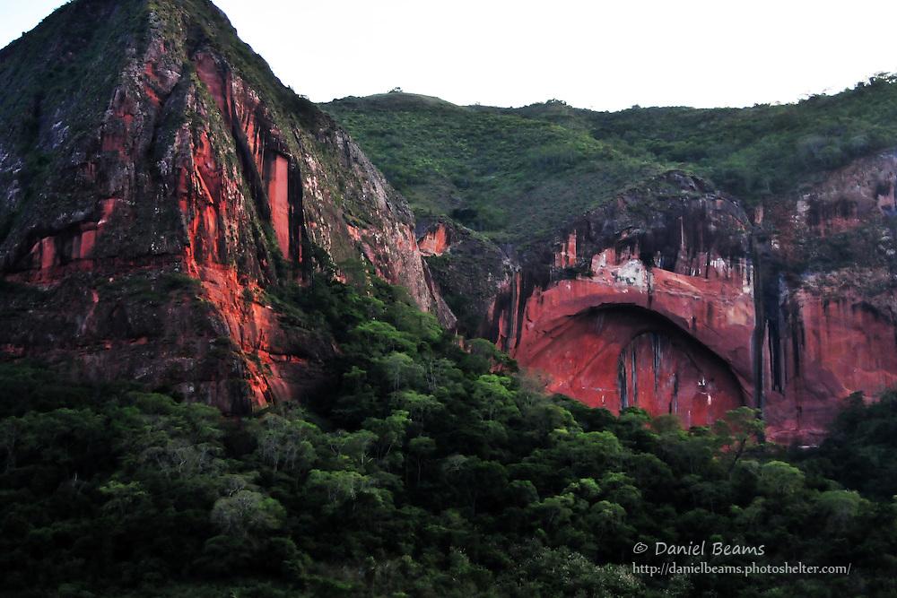 Devil's Window rock arch in Bermejo, Santa Cruz, Bolivia