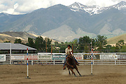 Pole Bending, Cowgirl, teen, teenager, Rodeo, Salmon, Idaho