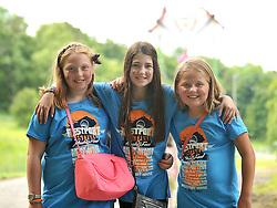 Music fans at the Westport Festival Ella Polian, Rachel Polian and Evan Hynes.<br /> Pic Conor McKeown