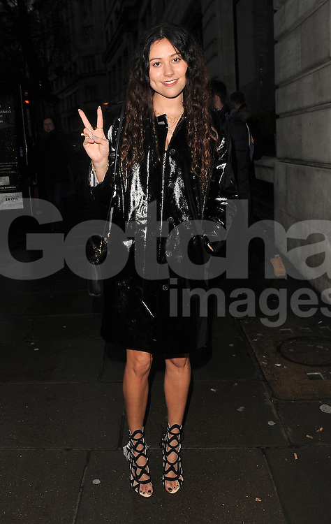 Eliza Doolittle attends the Mark Fast show at London Fashion Week AW14 at Aldwych House in London, UK. 14/02/2014<br />BYLINE MUST READ : GOTCHAIMAGES.COM<br /><br />Copyright by &copy; Gotcha Images Ltd. All rights reserved.<br />Usage of this image is conditional upon the acceptance <br />of Gotcha Images Ltd, terms and conditions available at<br />www.gotchaimages.com