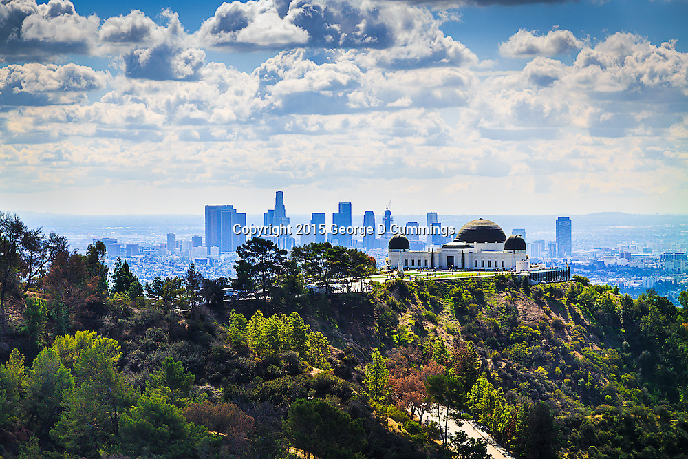 Griffith Park Observatory and LA Skyline available as digital download.
