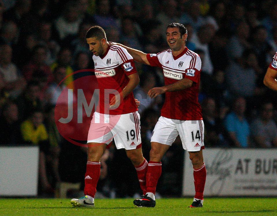 Fulham's Adel Taarabt celebrates the opening goal-Photo mandatory by-line: Matt Bunn/JMP - Tel: Mobile: 07966 386802 27/08/2013 - SPORT - FOOTBALL - Pirelli Stadium - Burton - Burton Albion V Fulham -  Capital One Cup - Round 2