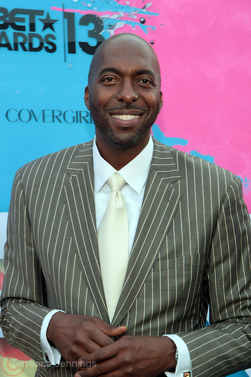 """Los Angeles, CA-June 29:  Former NBA Player/Commentor John Salley attends the Seventh Annual """" Pre """" Dinner celebrating BET Awards hosted by BET Network/CEO Debra L. Lee held at Miulk Studios on June 29, 2013 in Los Angeles, CA. © Terrence Jennings"""
