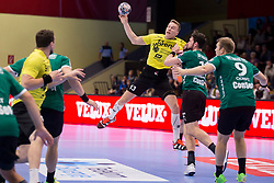 Jan Grebenc of RK Gorenje Velenje during handball match between RK Gorenje Velenje and Skjern Handbold in Group Phase C+D of VELUX EHF Champions League, on 1st October, 2017 in Rdeca dvorana, Velenje, Slovenia. Photo by Urban Urbanc / Sportida