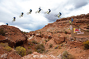 Thomas Vanderham No-Hander Gap Sequence at 2010 Red Bull Rampage freeride mountain bike contest