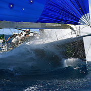 The crew of Black Jack in action as Yacht's compete in The Rolex Trophy 2008 Rating series run by The Cruising Yacht Club of Australia on December 20, 2008 in Sydney, Australia. The racing series, conducted in the waters around Sydney, is a preliminary tournament to the Rolex Sydney Hobart Yacht race 2008 which will start of Boxing Day, December 26th. Over 100 yacht's are entered in this years race with spectators on the Sydney Harbour foreshore estimated to reach around 500,000 people. Photo Tim Clayton