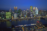Pittsburgh, PA, Skyline, from Mt. Washington, Night Light, Monongahela River