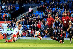 England's Harry Kane fires a shot at goal  - Mandatory byline: Matt McNulty/JMP - 07966386802 - 22/05/2016 - FOOTBALL - Etihad Stadium -Manchester,England - England v Turkey - International Friendly