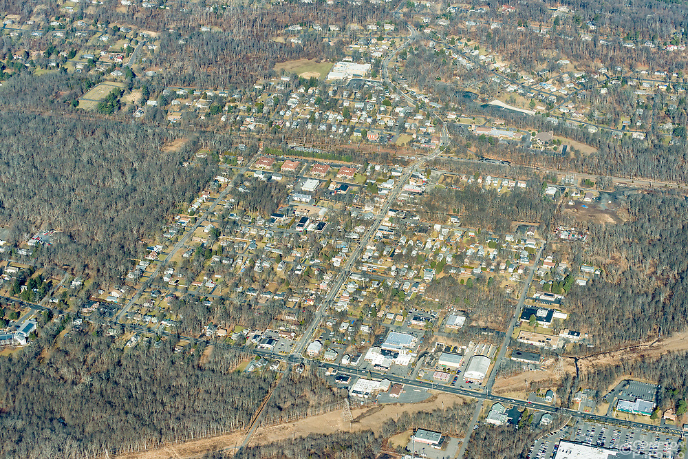 Stirling, New Jersey from 3000ft. Taken on January 26 2018