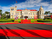 23 JULY 2015 - BANGKOK, THAILAND: Government House, the office of the Thai Prime Minister, before the arrival of the Vietnamese Prime Minister Thursday. The Vietnamese Prime Minister and his wife came to Bangkok for the 3rd Thailand - Vietnam Joint Cabinet Retreat. The Thai and Vietnamese Prime Minister discussed issues of mutual interest.      PHOTO BY JACK KURTZ