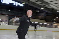 Competitive 73-year-old figure skater Richard Lynch pratices his figure skating at Canterbury Ice Rink. He recently competed in the Australian Masters Games.