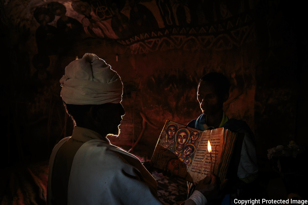 Ethiopia, Tigray, Priest at Abuna Yemata Guh