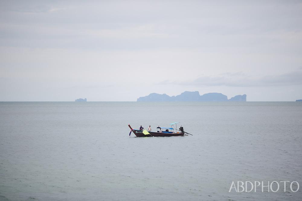 Koh Jum, Pu, Krabi, Thailand , boats, beach, sunset
