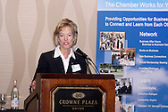 Ohio Department of Development director Christiane Schmenk speaks during the Dayton Area Chamber of Commerce Government Affairs Breakfast at the Crowne Plaza Hotel in downtown Dayton, Wednesday, November 30, 2011.