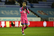 Wigan Athletic goalkeeper Jamie Jones (23) during the EFL Sky Bet Championship match between Wigan Athletic and West Bromwich Albion at the DW Stadium, Wigan, England on 11 December 2019.